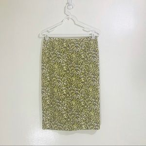 J.Crew Long No. 2 Pencil Skirt in Abstract Leopard